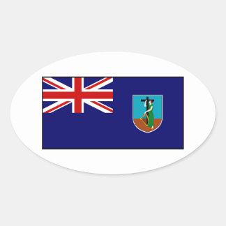 モンセラートの旗 楕円形シール