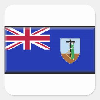 モンセラートの旗 正方形シール