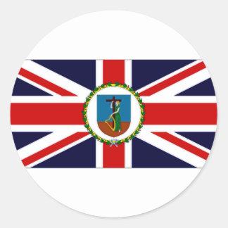 モンセラートの知事の旗 丸型シール