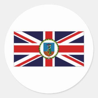 モンセラートの知事の旗 丸形シールステッカー