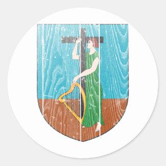 モンセラートの紋章付き外衣 丸型シール