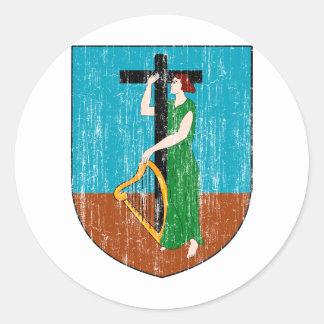 モンセラートの紋章付き外衣 丸形シール・ステッカー
