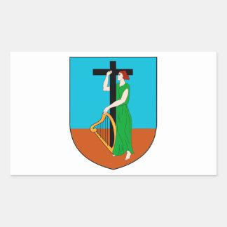 モンセラートの紋章付き外衣 長方形シール・ステッカー