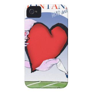 モンタナのヘッドハート、贅沢なfernandes iPhone 4 ケース