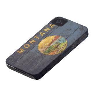 モンタナの古い木の旗; iPhone 4 カバー