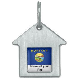 モンタナの国家の旗が付いているペットタグ ペットネームタグ