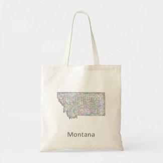モンタナの地図 トートバッグ