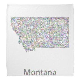 モンタナの地図 バンダナ