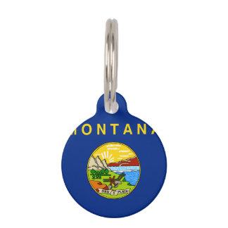 モンタナの州の旗 ペット ネームタグ