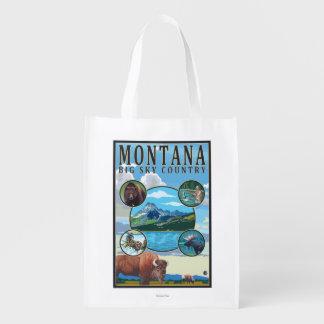 モンタナの州場面 エコバッグ
