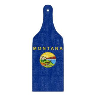 モンタナの旗が付いているガラスまな板のかい カッティングボード