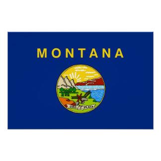 モンタナの旗が付いている愛国心が強い壁ポスター ポスター
