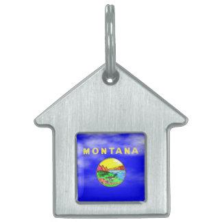 モンタナの旗 ペットネームタグ