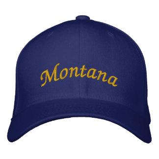 モンタナは帽子を刺繍しました 刺繍入りキャップ