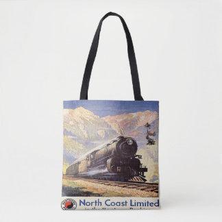 モンタナロッキー山脈のロコモーティブの列車の鉄道山 トートバッグ