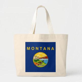 モンタナ州米国の旗が付いているバッグ ラージトートバッグ