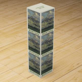 モンタナ米国のヴィンテージ旅行ワイン用化粧箱 ワインギフトボックス