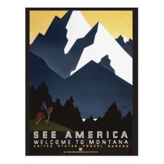 モンタナ米国のヴィンテージ旅行郵便はがき ポストカード