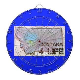 """""""モンタナ4生命""""の州の地図のプライドのデザイン ダーツボード"""