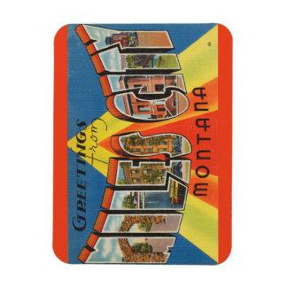 モンタナ、マイルの都市磁石 マグネット