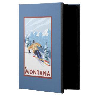 モンタナ- Downhhillの雪のスキーヤー iPad Airケース