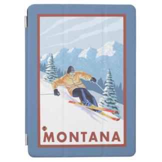 モンタナ- Downhhillの雪のスキーヤー iPad Air カバー