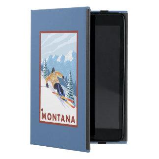 モンタナ- Downhhillの雪のスキーヤー iPad Mini ケース