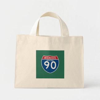 モンタナMT I-90の州間幹線道路の盾- ミニトートバッグ