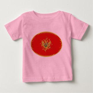 モンテネグロのすごい旗のTシャツ ベビーTシャツ