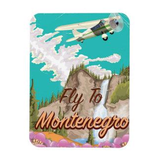 モンテネグロのヴィンテージ飛行旅行ポスター マグネット