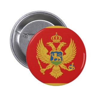 モンテネグロの国旗の国家の記号 5.7CM 丸型バッジ
