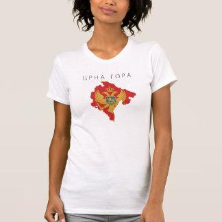 モンテネグロの国旗の地図の形の記号 Tシャツ