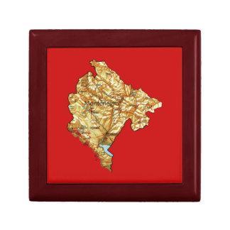モンテネグロの地図のギフト用の箱 ギフトボックス