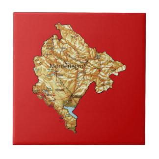 モンテネグロの地図のタイル タイル