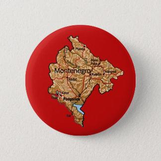 モンテネグロの地図ボタン 缶バッジ