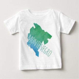 モンテネグロの地図 ベビーTシャツ