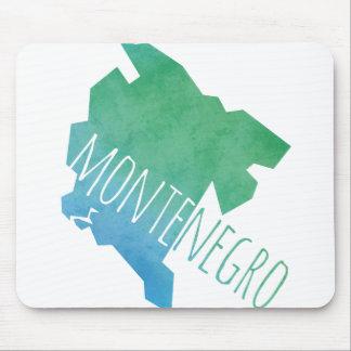 モンテネグロの地図 マウスパッド