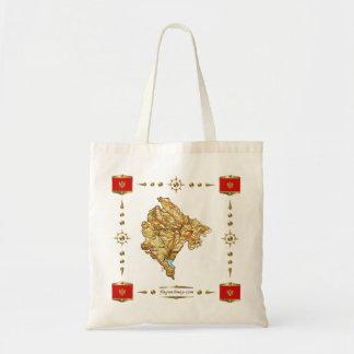 モンテネグロの地図 + 旗のバッグ トートバッグ