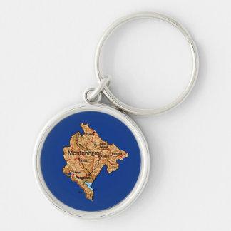 モンテネグロの地図Keychain キーホルダー
