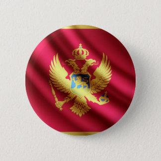 モンテネグロの振る旗のpinbackボタン 缶バッジ