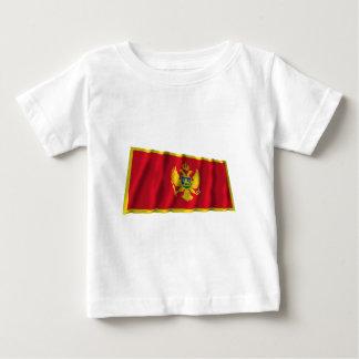 モンテネグロの振る旗 ベビーTシャツ