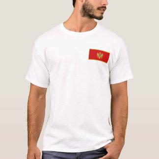 モンテネグロの旗および地図のTシャツ Tシャツ