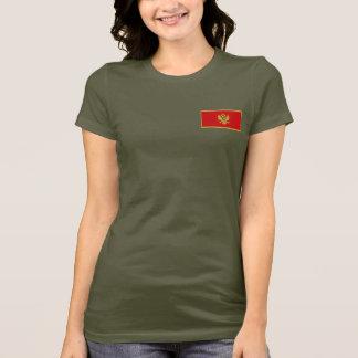 モンテネグロの旗および地図dkのTシャツ Tシャツ
