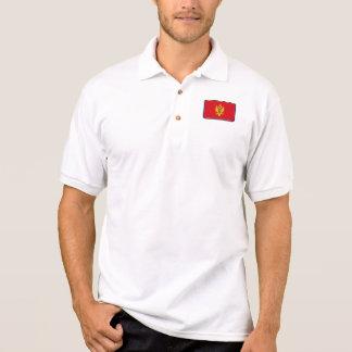 モンテネグロの旗のゴルフポロ ポロシャツ