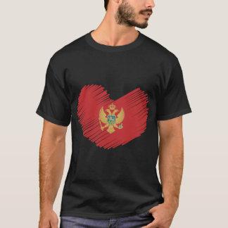 モンテネグロの旗のハート Tシャツ