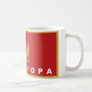 モンテネグロの旗の国のシリル字母の文字の名前 コーヒーマグカップ