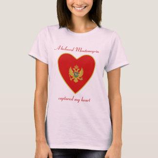 モンテネグロの旗の恋人のTシャツ Tシャツ