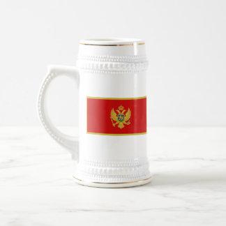モンテネグロの旗の~の地図のマグ ビールジョッキ
