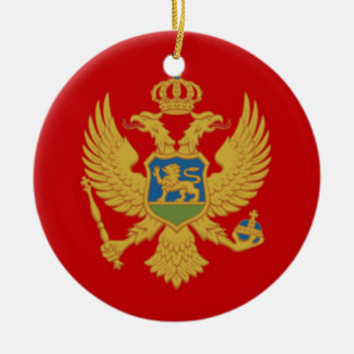 モンテネグロの旗 セラミックオーナメント