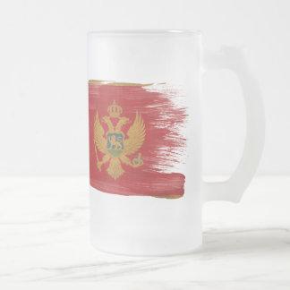 モンテネグロの旗 フロストグラスビールジョッキ